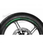 Adesivos Friso Refletivo Roda Moto Kawasaki Zx-9r Verde