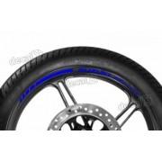 Adesivos Friso Refletivo Roda Moto Suzuki Bandit Azul Fri11