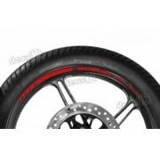 Adesivos Friso Refletivo Roda Moto Suzuki Bandit Vermelho F3