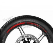 Adesivos Friso Refletivo Roda Moto Yamaha Fz1 Vermelho