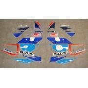 Adesivos Frontais Suzuki Gsxr 750 1997 Branca E Azul
