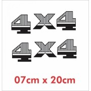 Emblema Adesivo 4x4 Jeep Willys Renegade Cherokee D9