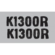 Emblema Adesivo Bmw K1300r Preta Par Decalx