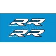 Emblema Adesivo Bmw S1000rr Azul Par Decalx