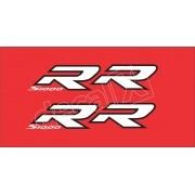 Emblema Adesivo Bmw S1000rr Vermelha Par Decalx