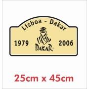 Emblema Adesivo Dakar Lisboa Jeep Willys Cherokee ad19