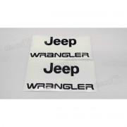 Emblema Adesivo Jeep Wrangler Par