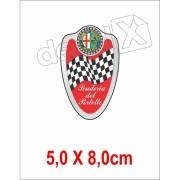 Emblema Adesivo Resinado Alfa Romeo Res2