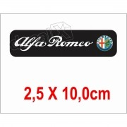 Emblema Adesivo Resinado Alfa Romeo Res9