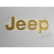 Emblema Adesivo Resinado Jeep Cherokee Dourado - Decalx