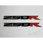 Emblema Adesivo Resinado Kawasaki 250r Par Re49