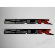 Emblema Adesivo Resinado Kawasaki 250r Par Re50