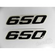Emblema Adesivo Resinado Kawasaki 650 9x02 Cms Re52