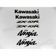 Emblema Adesivo Resinado Kawasaki NINJA ZX-10r re37