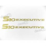 Emblema Adesivo Resinado S10 Executive 2003 Par S10r54