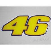Emblema Adesivo Resinado Yamaha 46 Valentino Rossi