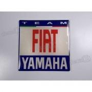 Emblema Adesivo Resinado Yamaha Team Fiat 8x8 Cms