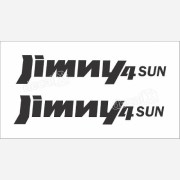 Emblema Adesivo Suzuki Jimny 4sun Par