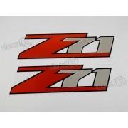 Emblema Adesivo Z71 Jeep Willys Renegade Cherokee Par Z712