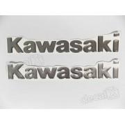 Emblema Adesivoresinado Kawasaki Prata