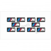 Emblema Logotipo Bmw M3 M5 M6 Kit Com 10 Und Decalx