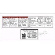 Etiquetas Adesivo Capa Corrente Suzuki Hayabusa Ets1006