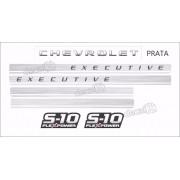 Faixa Adesivo Chevrolet S10 Executive 4x4 2009 A 2011 Kit03
