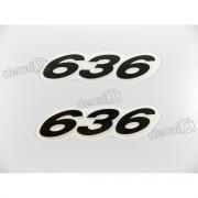 Faixa Emblema Adesivo Rabeta Kawasaki 636 Preto Par 636a1