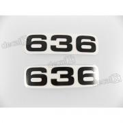 Faixa Emblema Adesivo Rabeta Kawasaki 636 Preto Par 636a2