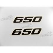 Faixa Emblema Adesivo Rabeta Kawasaki 650 Preto Par 650a1