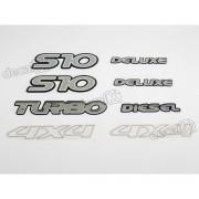 Jogo Emblema Adesivo Resinado S10 Deluxe Diesel Kitr08