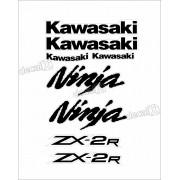 Jogo Faixa Emblema Adesivo Kawasaki Ninja 250r NINJA ZX-2r 25011