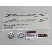 Jogo Faixa Emblema Adesivo Suzuki Bandit 650s 2012 Vermelha