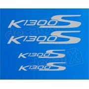 Ki Emblema Adesivo Rabeta Bmw K1300s Azul Par Decalx