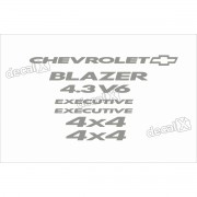 Kit Adesivo Chevrolet Blazer Exec. 4.3v6 2006 A 2008