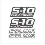Kit Adesivo Chevrolet S10 Colina Flex Vermelho 2011 S10kit18