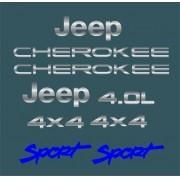 Kit Adesivo Cromado Resinado Jeep Cherokee Sport Verde Rs3
