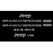 Kit Adesivo Emblema Resinado Jeep Grand Cherokee Cromado 03