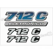 Kit Adesivo Emblema Resinado Mercedes 712c Cm111