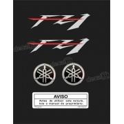 Kit Adesivo Emblema Yamaha Fazer Fz1 + Logo Resinado Fz11001