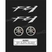 Kit Adesivo Emblema Yamaha Fazer Fz1 + Logo Resinado Fz11002