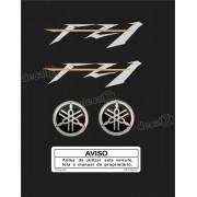 Kit Adesivo Emblema Yamaha Fazer Fz1 + Logo Resinado Fz11003