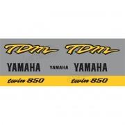 Kit Adesivo Emblema Yamaha Tdm 850 Prata/amarela Yhtdm85006