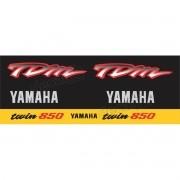 Kit Adesivo Emblema Yamaha Tdm 850 Preta/amarela Yhtdm85011