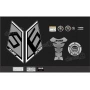 Kit Adesivo Emblema Yamaha Xj6 Sp + Tankpad Resinado Xj6sp09