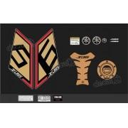 Kit Adesivo Emblema Yamaha Xj6 Sp + Tankpad Resinado Xj6sp12