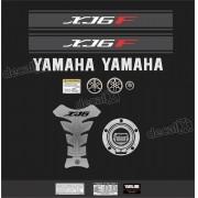 Kit Adesivo Emblema Yamaha Xj6f + Tankpad Resinado Xj6f1105