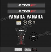 Kit Adesivo Emblema Yamaha Xj6f + Tankpad Resinado Xj6f1106