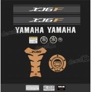 Kit Adesivo Emblema Yamaha Xj6f + Tankpad Resinado Xj6f1107