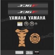 Kit Adesivo Emblema Yamaha Xj6f + Tankpad Resinado Xj6f1108